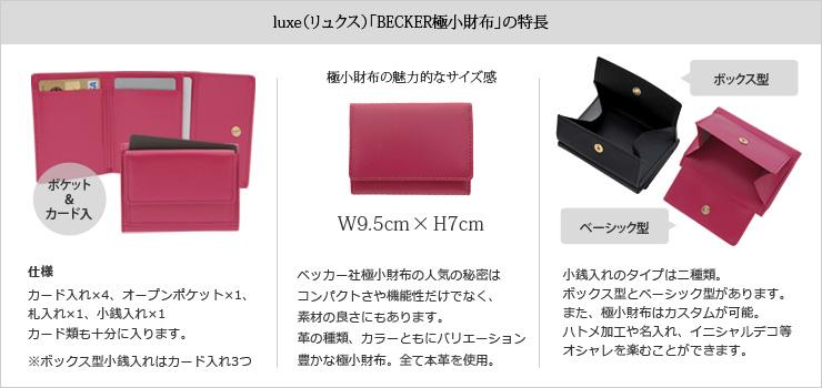 ベッカー極小財布が大丸東京にて期間限定販売!