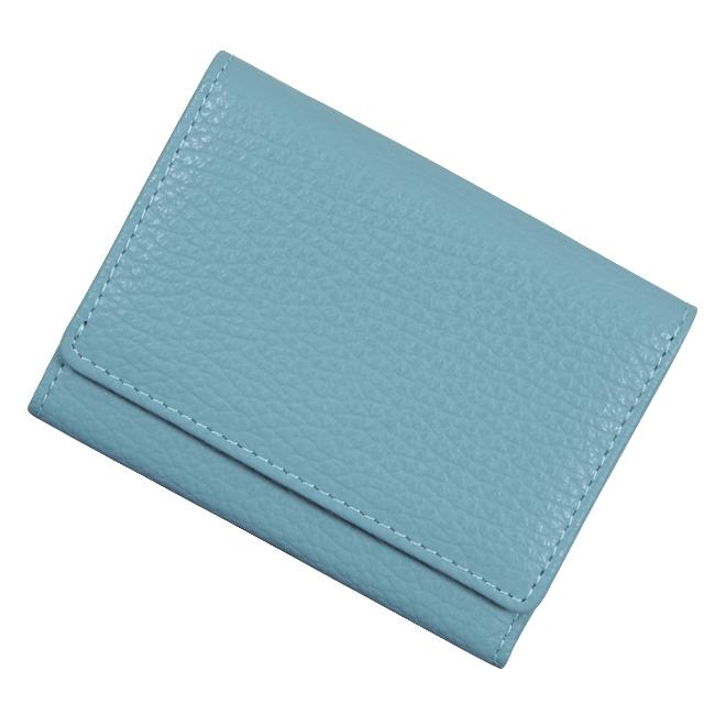 極小財布 ソフトシュリンク/ADRIA/牛革「ライトグレイッシュブルー」ベーシック型 BECKER(ベッカー)日本製
