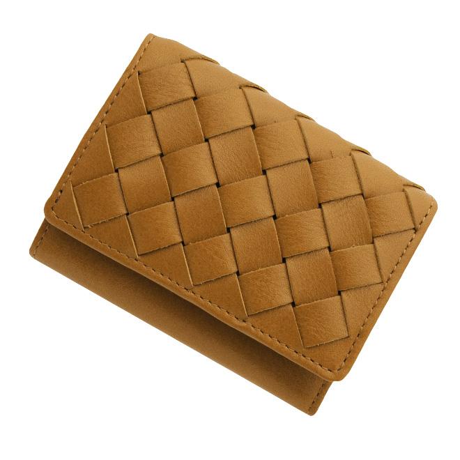 極小財布 メッシュ オイルレザー/牛革 キャメル BECKER(ベッカー)日本製 税込 \17,600