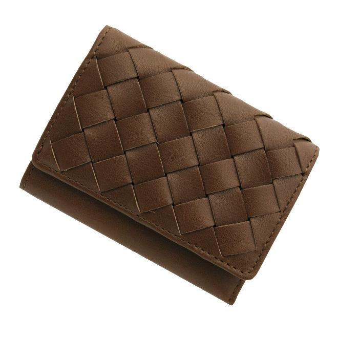 極小財布 メッシュ オイルレザー/牛革 ブラウン BECKER(ベッカー)日本製