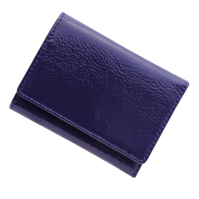 極小財布 エナメル(パープル)ベーシック型小銭入れ BECKER(ベッカー)日本製 ミニ財布/本革財布/三つ折り財布/小さい財布 税込 \13,200