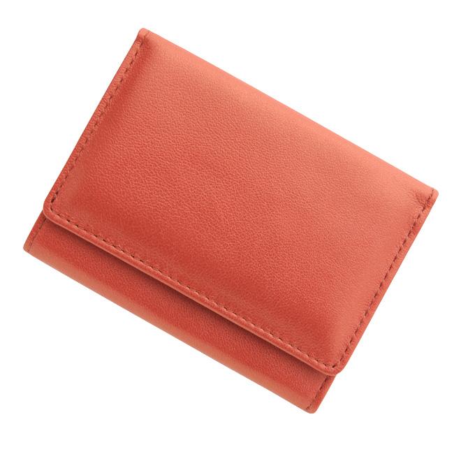 極小財布シープスキン メタリック シャイニーストロベリーレッド BECKER(ベッカー)日本製 税込 \16,500