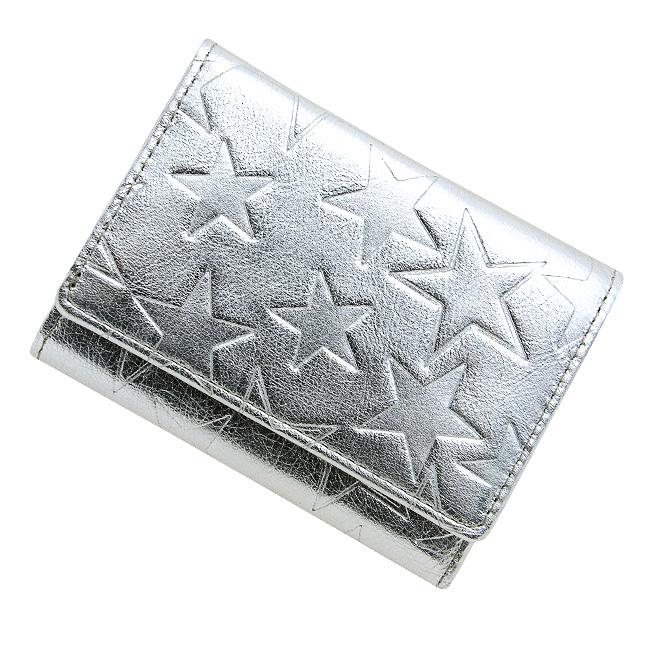 極小財布 星型押し スムース/牛革 シルバー×ブラック ベーシック型小銭入れ BECKER(ベッカー) 日本製