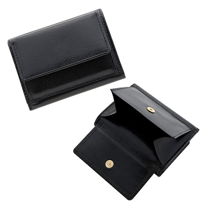 極小財布 バッファローレザー(ネイビー)ベーシック型小銭入れ 水牛革 BECKER