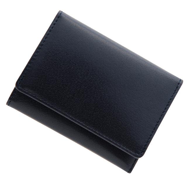 極小財布 バッファローレザー(ネイビー)ベーシック型小銭入れ BECKER(ベッカー)日本製 ミニ財布/本革財布/三つ折り財布/小さい財布 税込 \14,300