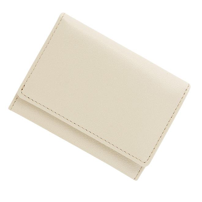 極小財布 バッファローレザー(オフホワイト)BECKER(ベッカー)日本製 ミニ財布/本革/三つ折り/小さい/レディース/メンズ/ 税込 \14,300