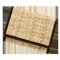 籐素材モデル極小財布