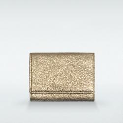 極小財布 BOX型小銭入れ グリッター ゴートスキン/山羊革 ゴールド BECKER(ベッカー)日本製