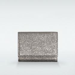 極小財布 BOX型小銭入れ グリッター ゴートスキン/山羊革 シルバー BECKER(ベッカー)日本製
