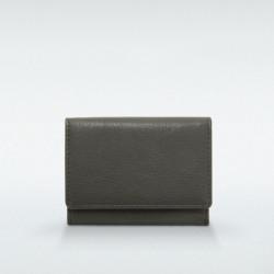 極小財布 BOX型小銭入れ マルケ 牛革 モスグレー BECKER(ベッカー)日本製