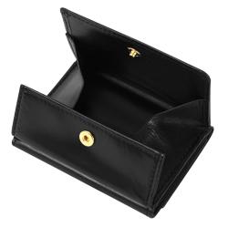 極小財布 ボックス型 スムース/牛革 ブラック BECKER(ベッカー)日本製