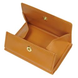 極小財布 ボックス型 スムース/牛革 キャメル BECKER(ベッカー)日本製