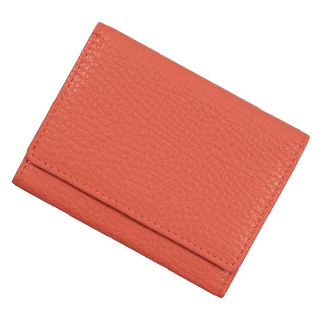 極小財布 ソフトシュリンク/ADRIA/牛革「コーラルオレンジ」ベーシック型 BECKER(ベッカー) 日本製 税込 \14,300