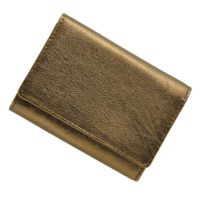 極小財布 ゴートスキン/山羊革 メタリックブロンズ ベーシック型小銭入れ BECKER(ベッカー)日本製 14,300円