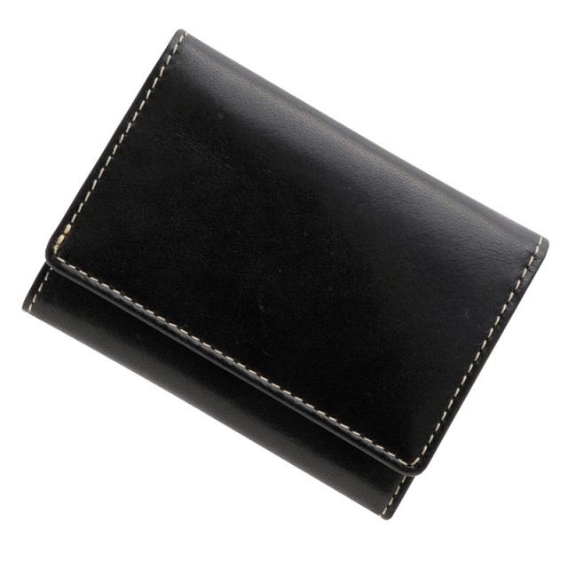 極小財布 トスカーナレザー(ネロ)ベーシック型小銭入れ 牛革 BECKER(ベッカー)日本製