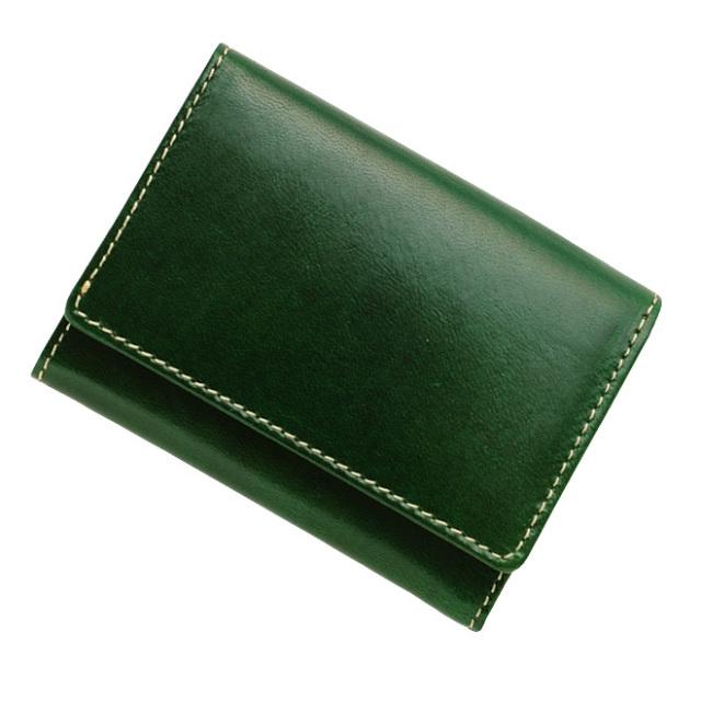 極小財布 トスカーナレザー/牛革 グリーン ベーシック型小銭入れ BECKER(ベッカー) 日本製 税込 \14,300