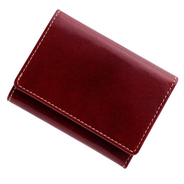 極小財布 トスカーナレザー(ロッソ)ベーシック型小銭入れ 牛革 BECKER(ベッカー)日本製