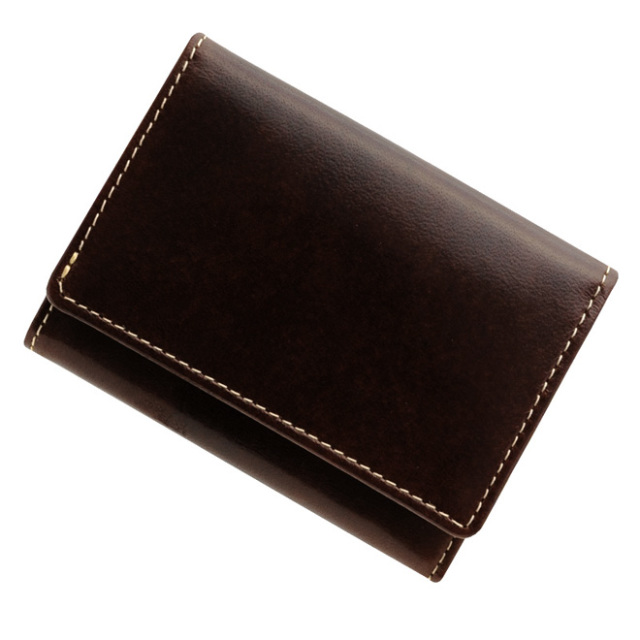 極小財布 トスカーナレザー(タバコ)ベーシック型小銭入れ 牛革 BECKER(ベッカー)日本製