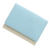 極小財布 スムース/牛革 バイカラー ライトブルー×アイボリー BECKER(ベッカー)日本製