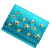 極小財布メタリック小さい財布ミニ財布×星スタッズ