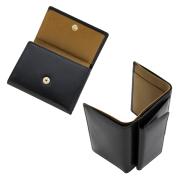 極小財布 バッファローレザー(ネイビー) 水牛革 BECKER(ベッカー)日本製