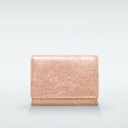 極小財布 BOX型小銭入れ グリッター ゴートスキン/山羊革 ピンク BECKER(ベッカー)日本製