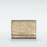 極小財布 ボックス型小銭入れ グリッター ゴートスキン/山羊革 シルバー BECKER(ベッカー)日本製 ミニ財布 本革財布 三つ折り財布