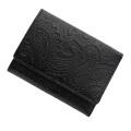 極小財布 スムース ペイズリー型押し ブラック BECKER(ベッカー)日本製