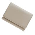 極小財布 エナメル(ライトグレージュ)ベーシック型小銭入れ BECKER(ベッカー)ドイツ製