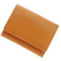 極小財布 エナメル(オレンジ)ベーシック型小銭入れ BECKER(ベッカー)日本製