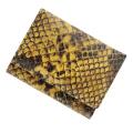 極小財布 ピッグスエード パイソン イエロー×ブラック ベーシック型小銭入れ BECKER(ベッカー)日本製