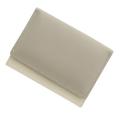 極小財布 スムース バイカラー ライトグレー×アイボリー BECKER(ベッカー) 日本製