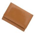 極小財布 進藤やす子コラボ「エナメル」キャメル BECKER(ベッカー) 日本製
