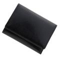 極小財布 バッファローレザー(ブラック)ベーシック型小銭入れ 水牛革 日本製