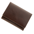 極小財布 バッファローレザー(ブラウン)ベーシック型小銭入れ 水牛革 BECKER(ベッカー)日本製