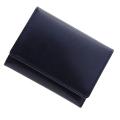 極小財布 バッファローレザー(ネイビー)ベーシック型小銭入れ 水牛革 日本製