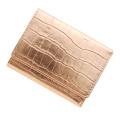 極小財布クロコ型押し メタリックピンク ベーシック型小銭入れ CAPITO(カピート)日本製