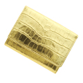 極小財布クロコ型押し メタリックゴールド ベーシック型小銭入れ CAPITO(カピート) 日本製