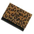 極小財布 ピッグスエード バイカラー レオパード×ブラック ベーシック型小銭入れ BECKER(ベッカー)日本製