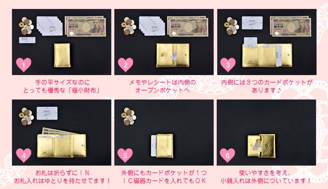 お札も小銭もカードも入る極小財布